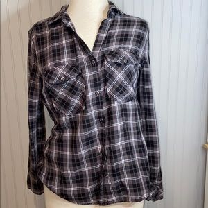 Billy T Grey and Black Flannel With Lacing On Back